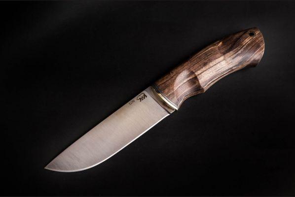 Нож Боровик - Premium <span>(сталь s290, стабилизированная карельская берёза, мозаичный пин под темляк)</span>