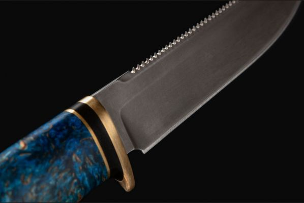 Нож Ерш <span>(булат, стабилизированная карельская берёза)</span>