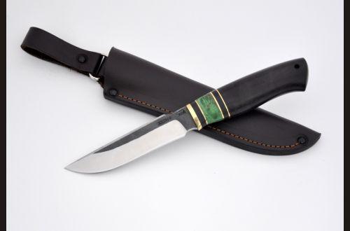 Нож Клык <span>(х12мф, чёрный граб, стабилизированная вставка)</span>