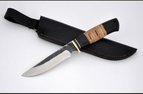 Нож Лис <span>(х12мф, береста, чёрный граб)</span>