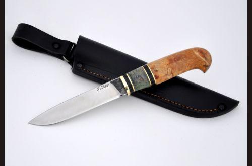 Нож Опасный <span>(х12мф, карельская береза, стабилизированная вставка)</span>