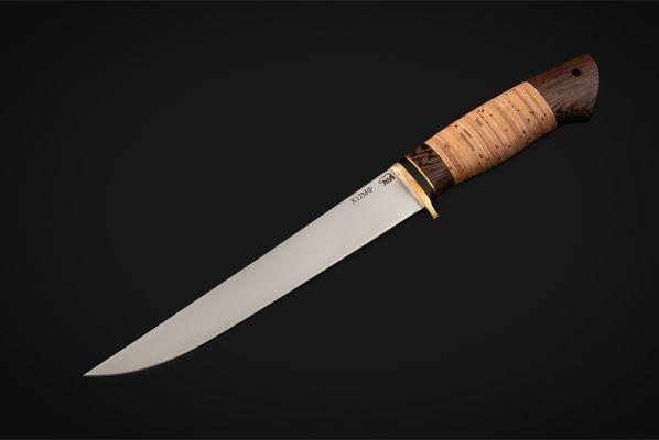 Нож Филейный большой <span>(х12мф, береста, венге)</span>