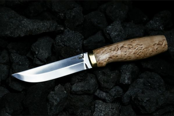 Реплика финского ножа Puukko 2 (х12мф, карельская береза)