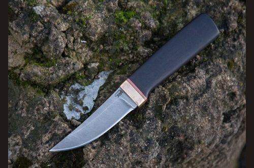 Реплика финского ножа Puukko 3 <span>(дамаск 1200 слоёв, черный граб)</span>