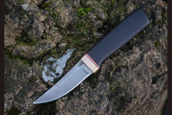 Реплика финского ножа Puukko 3 (дамаск 1200 слоёв,черный граб)