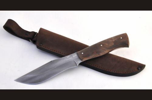 Нож Буйвол <span>(алмазка, орех, цельнометаллический)</span>