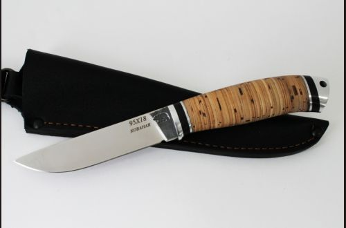 Нож Мичман <span>(95х18, береста, дюраль)</span>