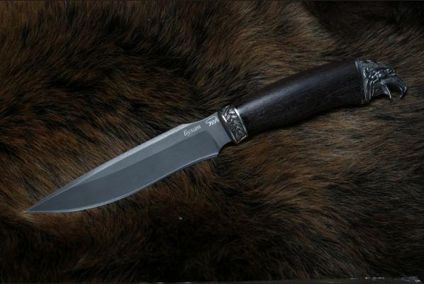 Нож Ворон (булат,венге,литье мельхиор 2)