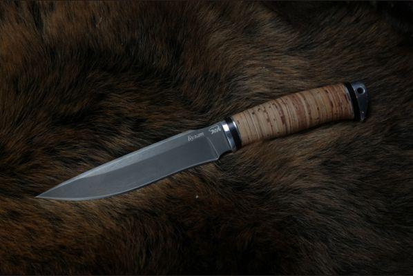 Нож Ворон (булат, береста, дюраль)