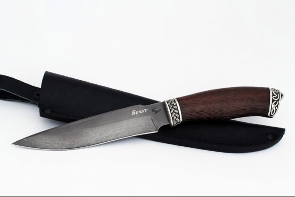 Нож Ворон (булат, венге, литьё - мельхиор 1)