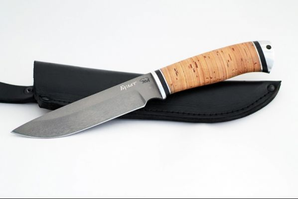 Нож Путник (булат, береста - дюраль)