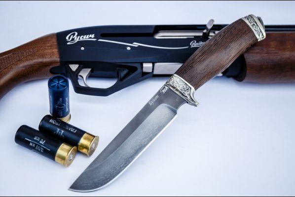 Нож Легионер (булат, венге, литьё - мельхиор)