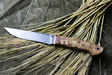 Нож Барс <span><span>(к340, стабилизированная карельская береза, спуски от обуха)</span></span>