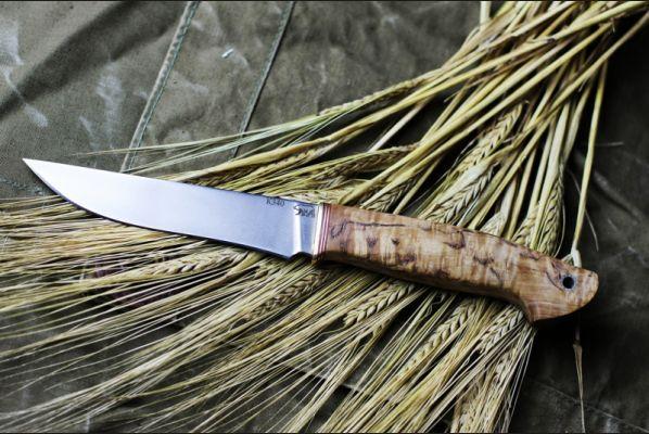 Нож Барс (к-340,стабилизированная карельская береза, спуски от обуха)