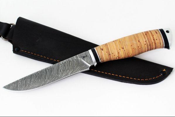 Нож Барс (дамаск, береста дюраль)