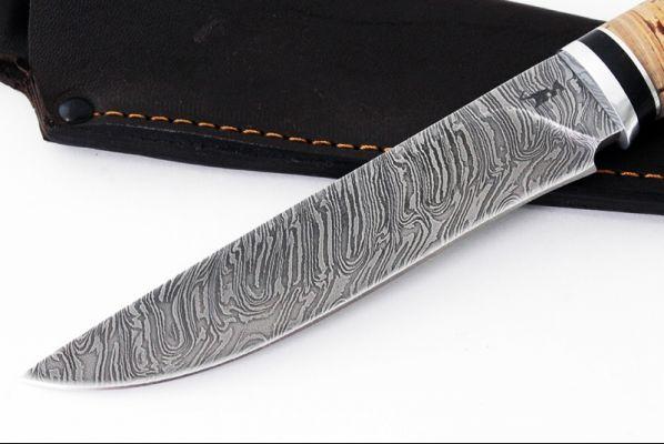 Нож Барс <span>(дамаск, береста, дюраль)</span>