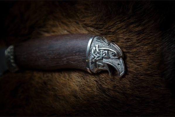 Нож Ворон <span>(дамаск, венге, литьё мельхиор 2)</span>