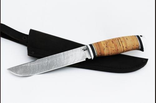 Нож Таёжный <span>(дамаск, береста, дюраль)</span>