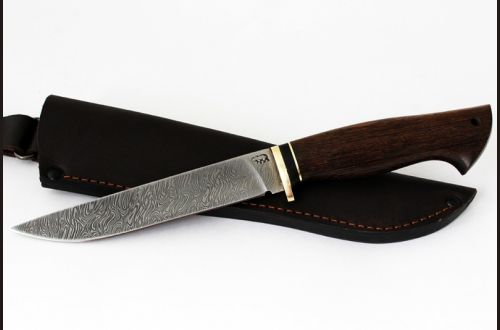 Нож Волк <span>(дамаск, венге)</span>