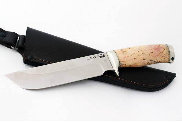 Нож Легионер (elmax, карельская берёза, мельхиор)