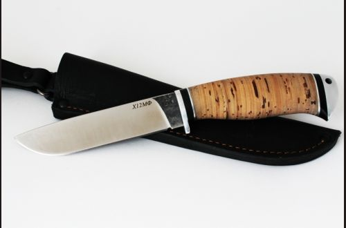 Нож Рысь <span>(х12мф, береста, дюраль)</span>