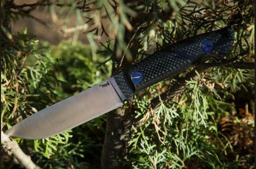 Универсальный нож Крит <span>(м390, карбон, цельнометаллический)</span>