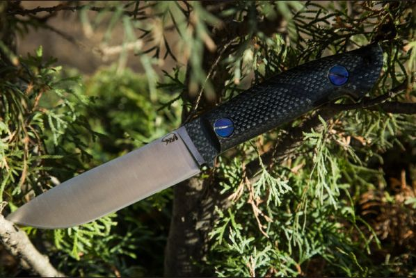 Универсальный нож Крит ( м390,карбон, цельнометаллический)
