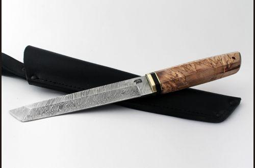 Нож Танто <span>(дамаск, карельская берёза)</span>