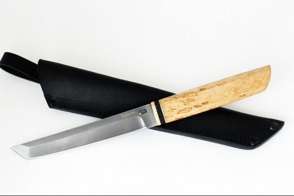 Нож Танто (булат, карельская берёза)