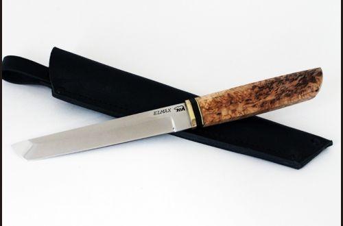 Нож Танто <span>(elmax, карельская берёза)</span>