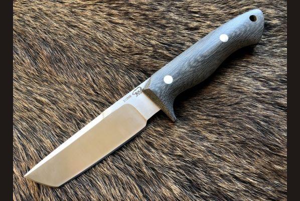 Нож Таран (кованная х12мф,микарта, цельнометаллический)