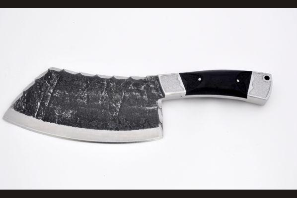 Тяпка №1 (х12мф, цельнометаллическая, со следами ковки, граб, резная)