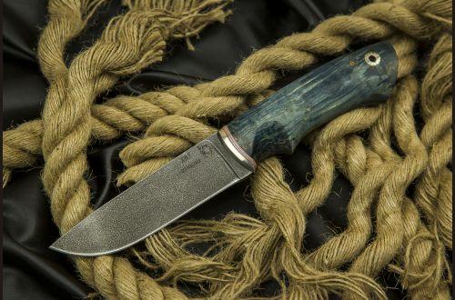 Нож Боровик-premium <span>(алмазка, стабилизированная карельская береза, мозаичный пин под темляк)</span>