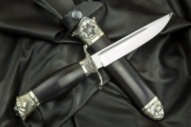 Авторская финка НКВД <span><span>(95х18, авторское литье, граб, деревянные ножны)</span></span>