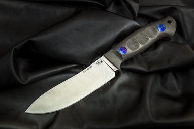 Нож Сибирь <span><span>(S390, карбон, цельнометаллический, титановые винты)</span></span>