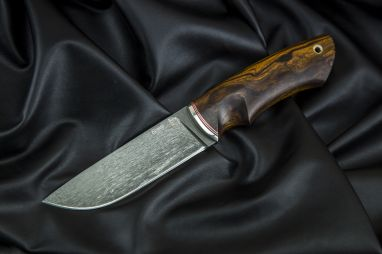 Нож Боровик - Premium <span><span>(булат, айронвуд, мозаичный пин под темляк)</span></span>