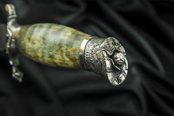 Авторская финка НКВД <span>(булат, авторское литье, стабилизированная карельская берёза, деревянные ножны)</span>