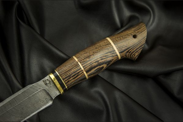 Нож Ворон <span>(дамаск, венге, вставка береста)</span>