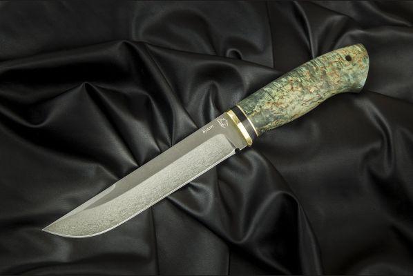 Нож таежный <span>(булат, стабилизированная карельская береза)</span>