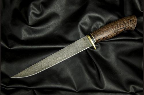 Нож Филейный большой <span>(дамаск, венге)</span>