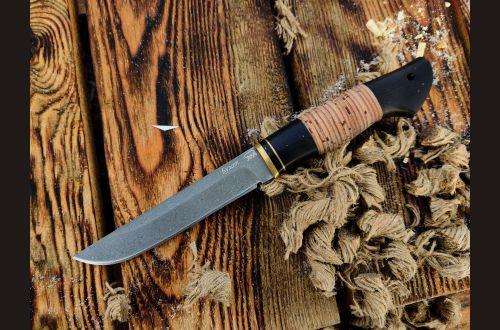 Нож Анчар <span>(булат, береста, чёрный граб)</span>