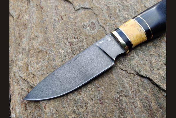 Нож Боровик 2 <span>(булат, чёрный граб, стабилизированная вставка)</span>
