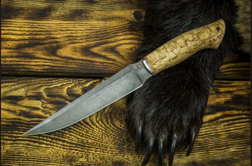 Нож Каратель <span>(дамаск 1200 слоёв, карельская береза)</span>