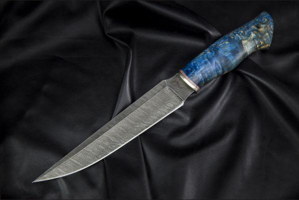 Нож Каратель <span>(дамаск 1200 слоёв, стабилизированная карельская береза)</span>