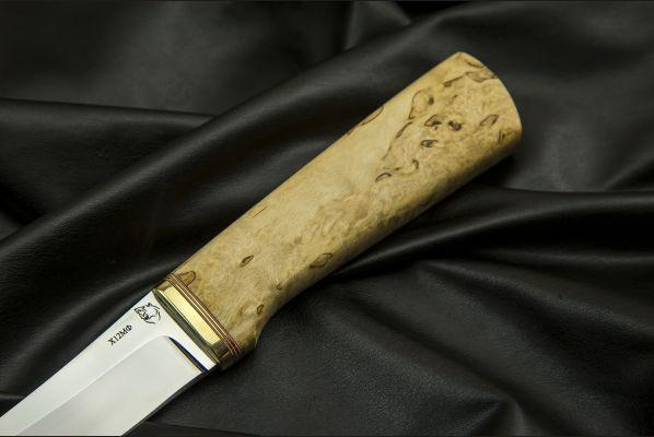 Реплика финского ножа Puukko 3 <span>(х12мф, карельская береза)</span>