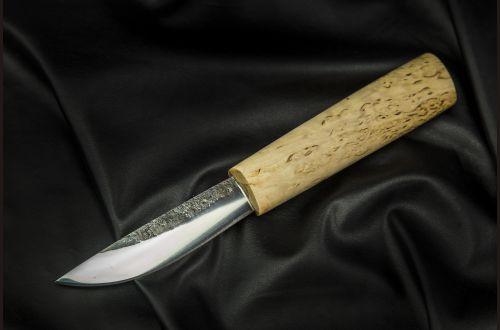 Якутский нож, малый <span>(х12мф, карельская береза, кованый дол)</span>