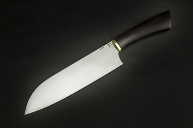 Кухонный нож Сантоку 1 <span><span>(х12мф, чёрный граб)</span></span>