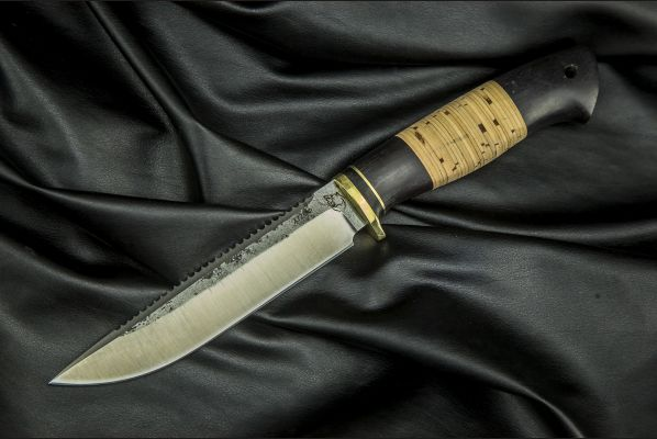 Нож Ерш <span>(х12мф, береста, граб)</span>