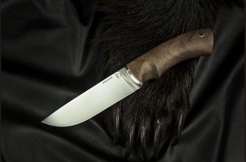 Нож Боровик-premium <span>(M390, корень ореха, мозаичный пин под темляк)</span>