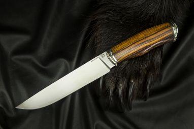 Нож Охотник 2 <span><span>(М390, спуски от обуха, айронвуд, литьё мельхиор)</span></span>